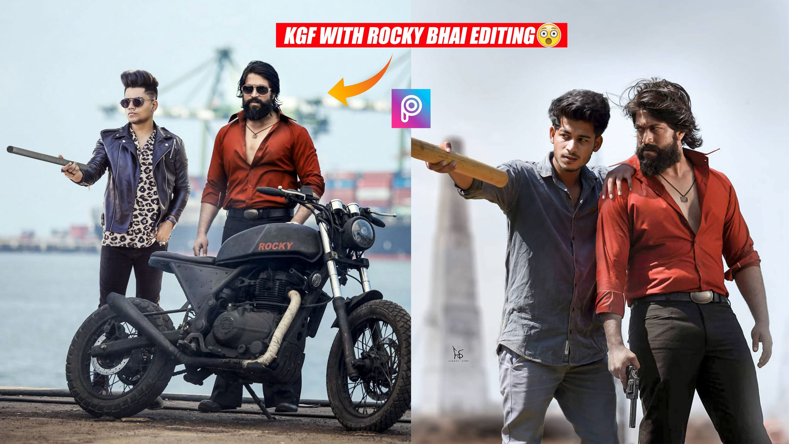 K G F Rocky Bhai Photo Editing Background Png Free Download